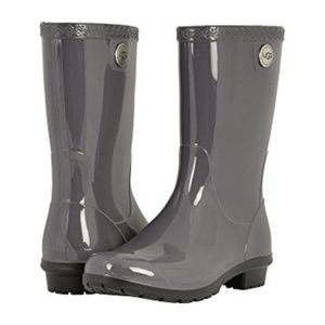 UGG Australia Women's Sienna Gray Rubber Rain Boot